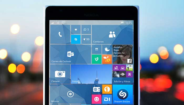 smartphone windows 10 mobile