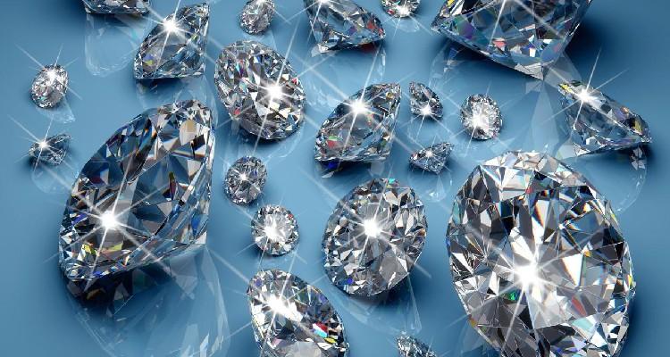 display in diamante