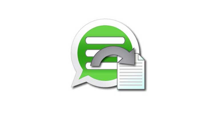 salvare chat whatsapp