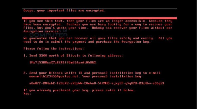 ransomware petna