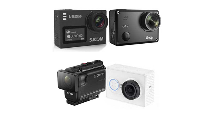 top 5 migliori action cam economiche stile gopro. Black Bedroom Furniture Sets. Home Design Ideas