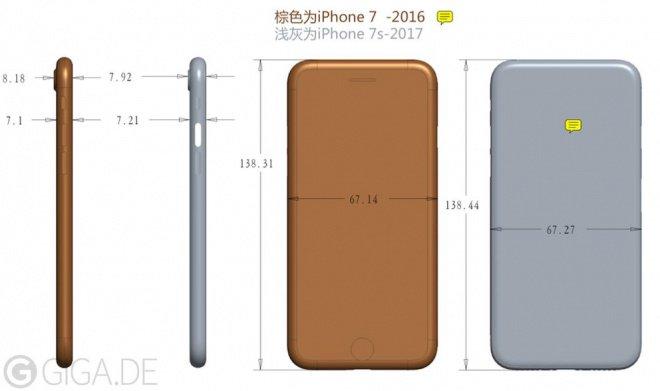 iPhone 7S dimensioni