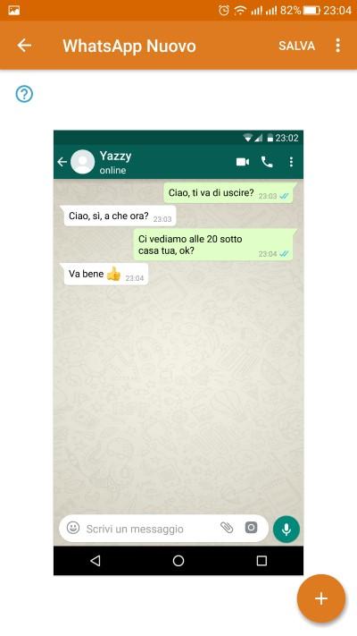 chat false su whatsapp