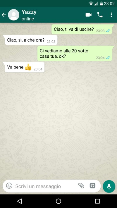 chat false whatsapp