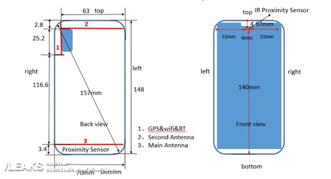 Huawei P20 Lite dimensioni