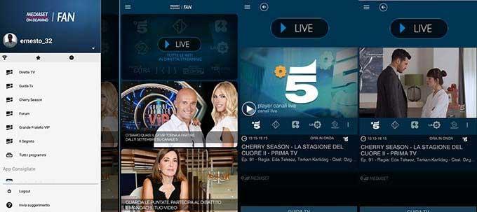 app per vedere tv Mediaset