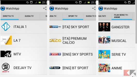 app per vedere tv watchapp