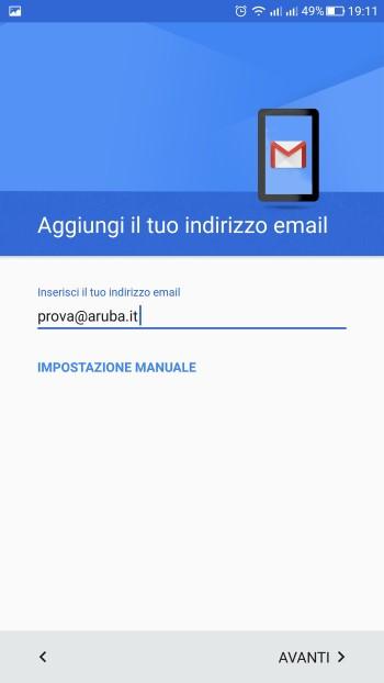 configurazione email aruba