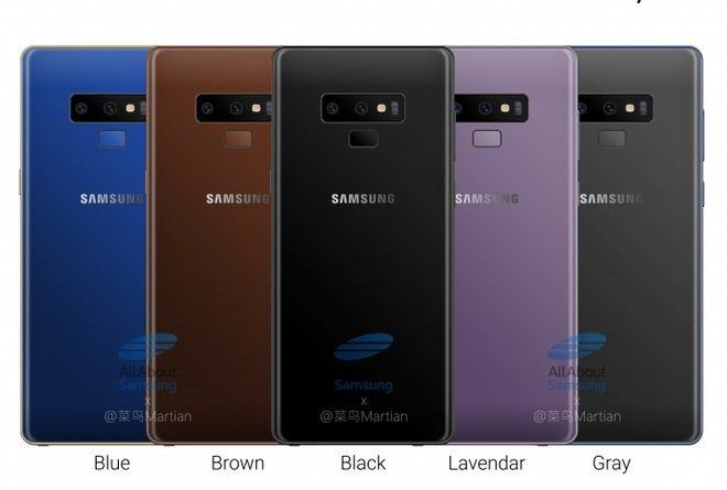 Galaxy Note 9 colori