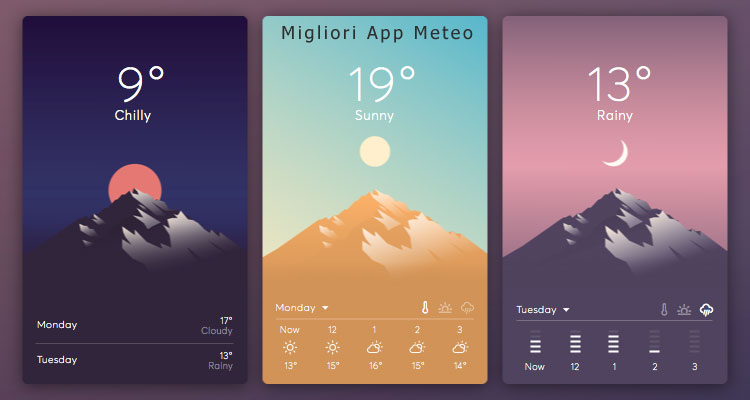 top 5 migliori app meteo android e ios con widget per previsioni affidabili. Black Bedroom Furniture Sets. Home Design Ideas