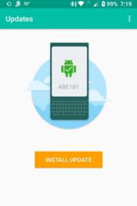 BlackBerry KEY2 aggiornamento