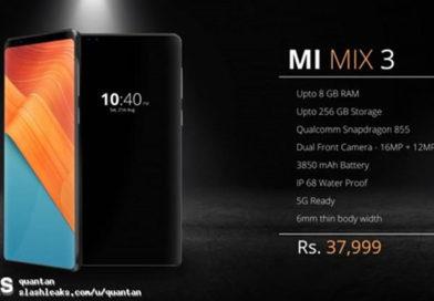 Xiaomi Mi Mix 3 si libera del bordo inferiore in nuovi render