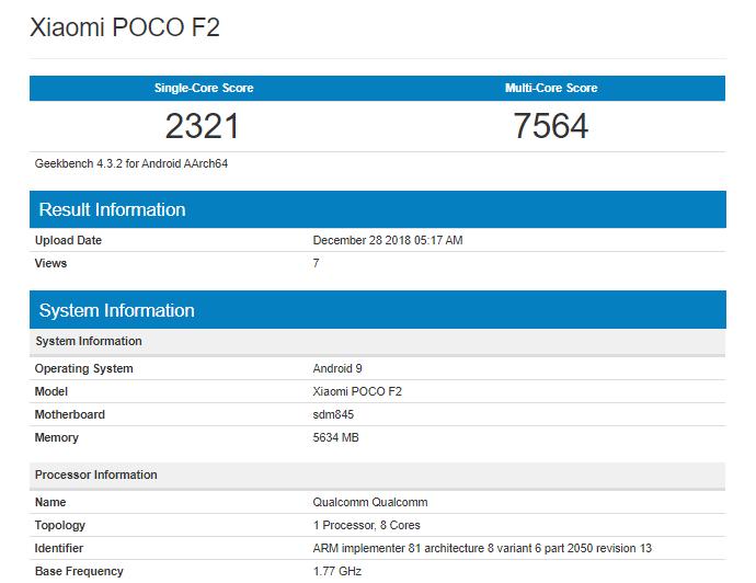 Xiaomi Poco F2 risultati