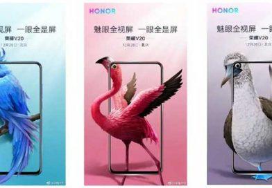 Colorazioni e confezione di Honor V20 si mostrano a 10 giorni dall'uscita