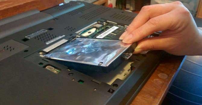 sostituire hard disk con ssd