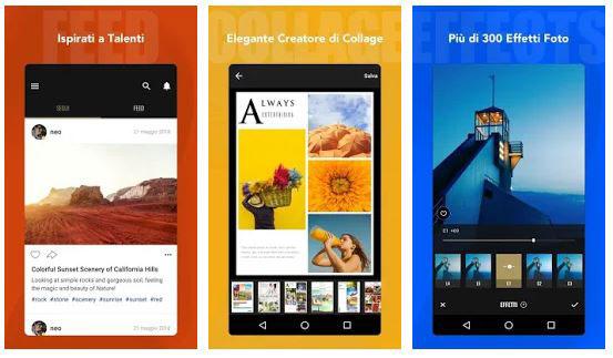 fotor app per modificare foto android
