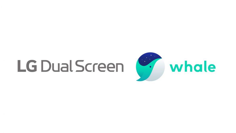 LG dual screen whale
