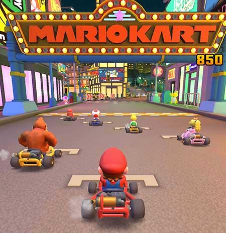 partenza mario kart tour