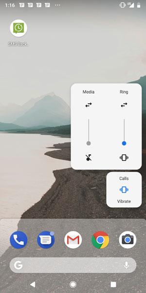 aumentare il volume su android