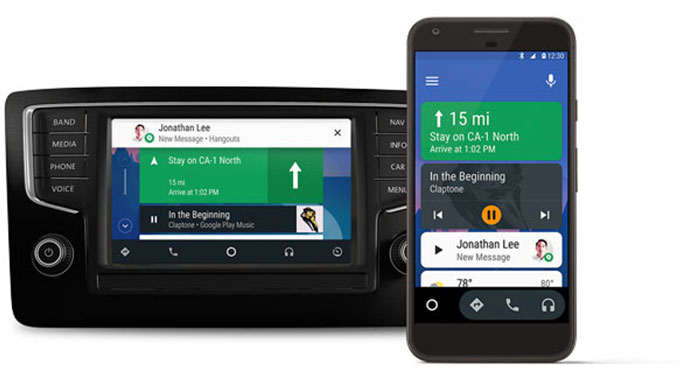 smartphone android auto