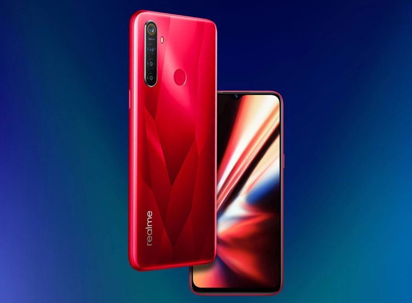 realme 5s crystal red