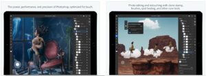 Adobe Photoshop iPad app per grafica
