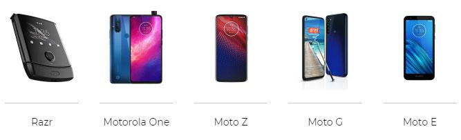 serie smartphone Moto