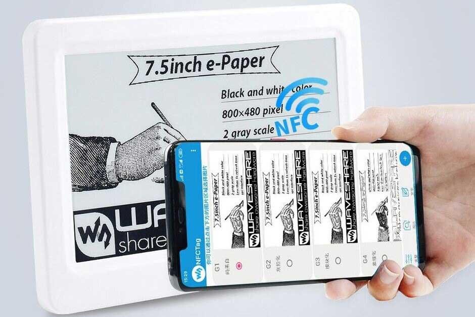 display e-ink senza batteria