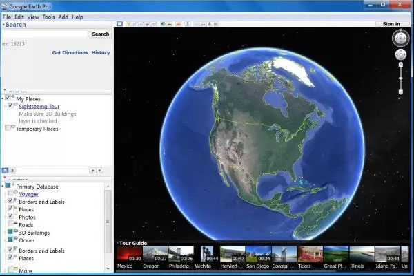 google earth salva map