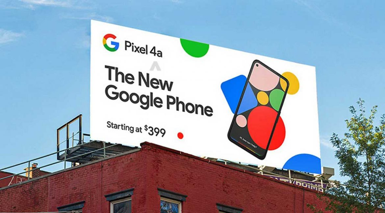 google pixel 4a ad display