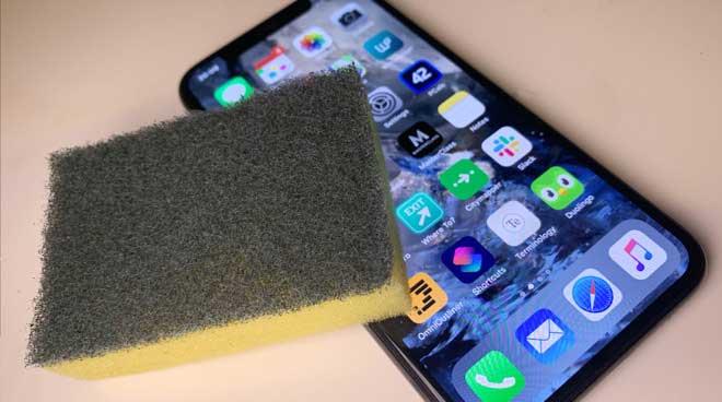pulire e disinfettare iphone