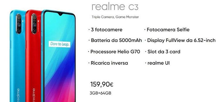 realme c3 prezzo italia