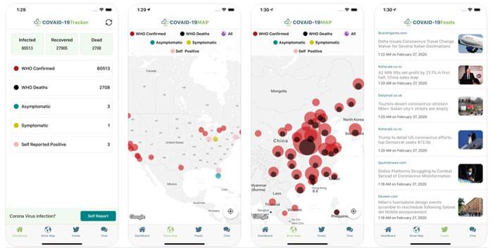covid-19 tracker migliori app coronavirus