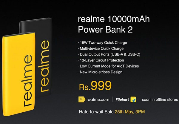realme power bank 2 18w