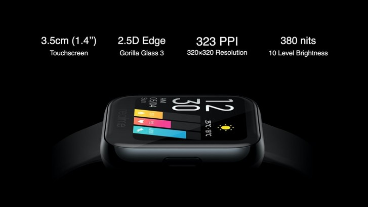 realme watch specifiche display