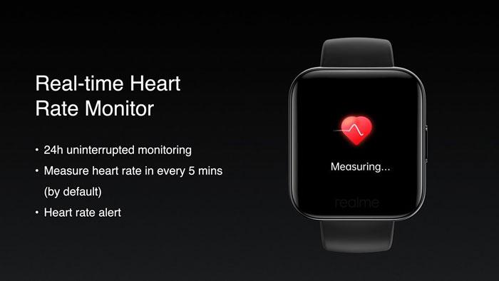 realme watch battito cardiaco