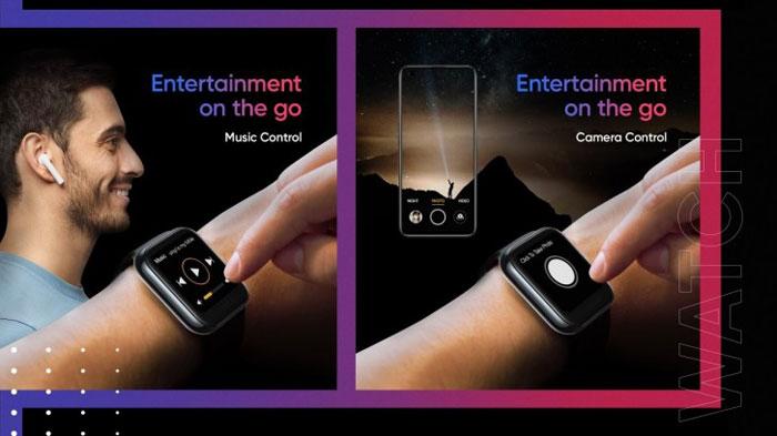 realme watch controllo musica e fotocamera
