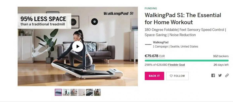 xiaomi walkingpad s1 tapis roulant