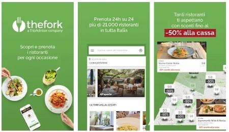 thefork app per mangiare fuori