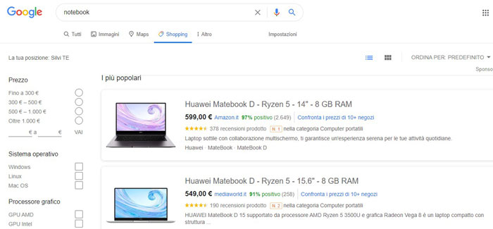 notebook online google shopping