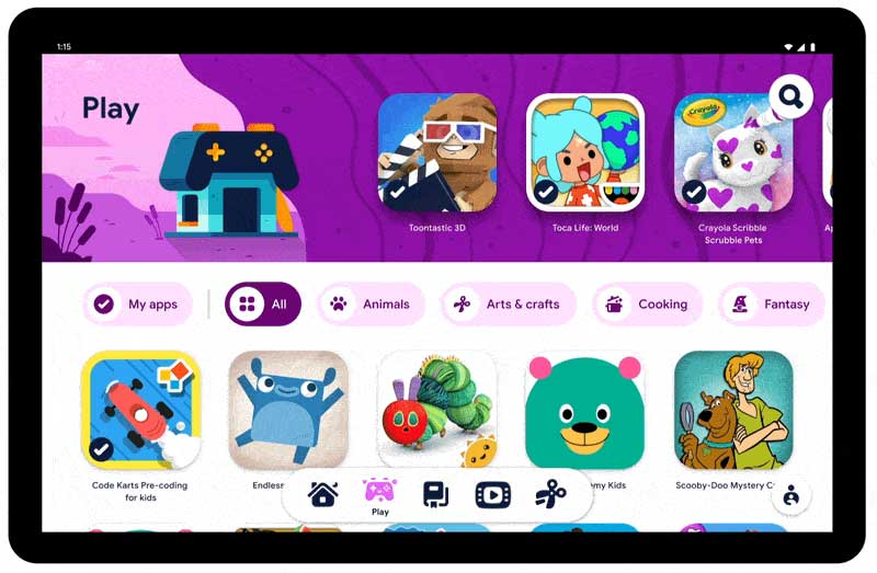 google kids space android