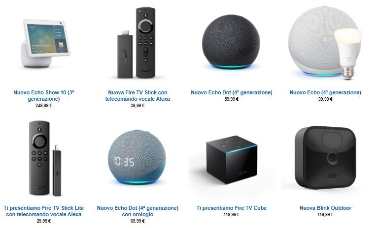 nuovi prodotti amazon 2020