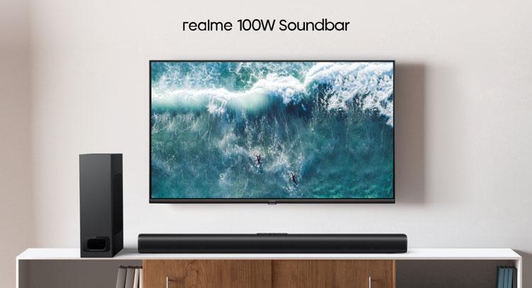 realme soundbar 100w