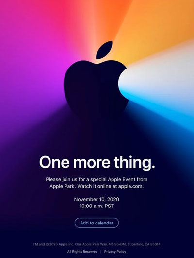 evento apple 10 novembre