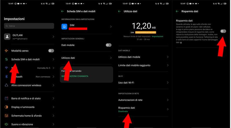 modalità risparmio dati su android