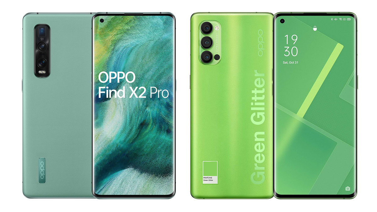 oppo find x2 pro e reno4 pro green