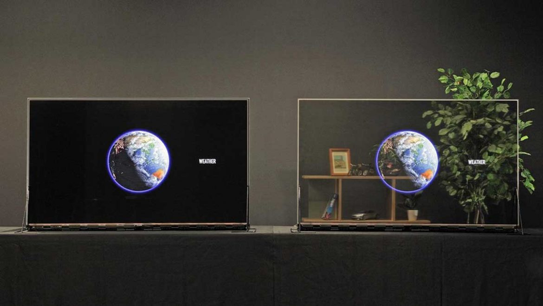 panasonic display trasparenti