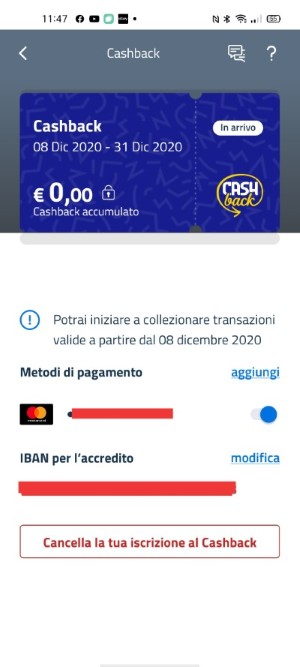 cashback di stato app io