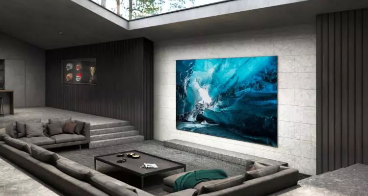 samsung tv microled the wall 110 pollici