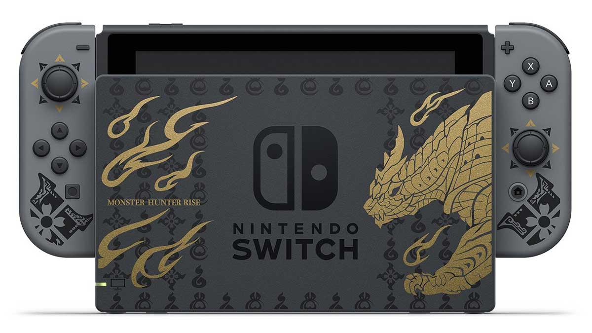Arriva una nuova Nintendo Switch: l'edizione speciale Monster Hunter Rise